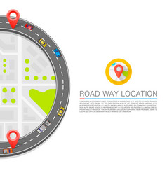 paved path on road art vector image