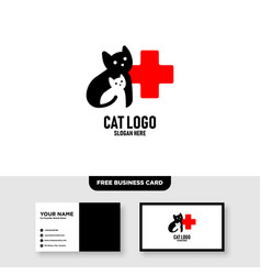 pet care logo template free business card vector image