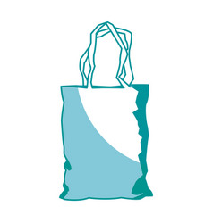 Plastic shopping bag market pack image vector