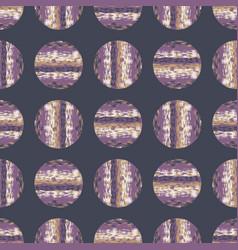 Polka dot glitch melange seamless pattern modern vector