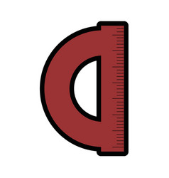 protractor icon image vector image