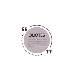 quote text box circle bubble for comment mark vector image