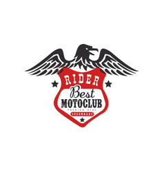 Rider best motoclub logo premium ride design vector
