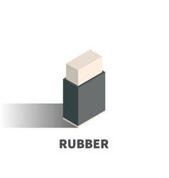 rubber eraser icon symbol vector image