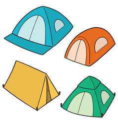 set tent vector image