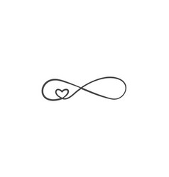 Sign of infinity and heart icon element of vector