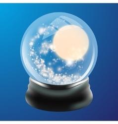 Snow globe template vector