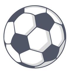 Soccer ball icon cartoon style vector