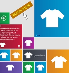 T-shirt icon sign buttons Modern interface website vector