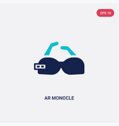 Two color ar monocle icon from artificial vector