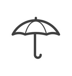 umbrella protection or weather line icon vector image