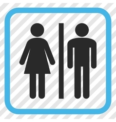 WC Persons Icon In a Frame vector image vector image