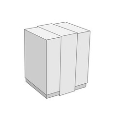 White cardboard blank box template vector