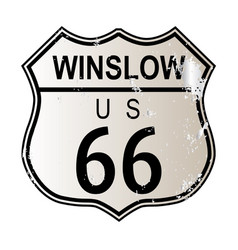 Winslow route 66 vector