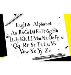 Calligraphic script font vector image vector image