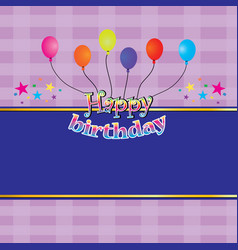 happy birthday greeting cards vector image