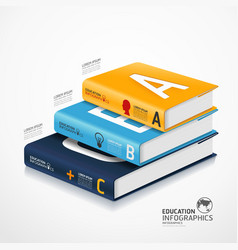 infographic books vector image vector image