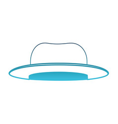 top-hat in degraded blue silhouette on white vector image vector image