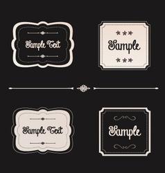 blackboard frames preview vector image