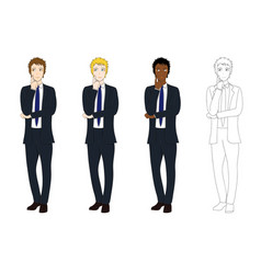 business man thinking vector image vector image