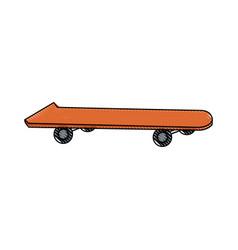 Drawing skateboard board sport element vector