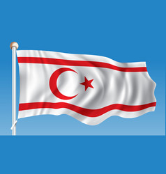 Flag of northern cyprus vector