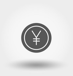money sign coin yen vector image
