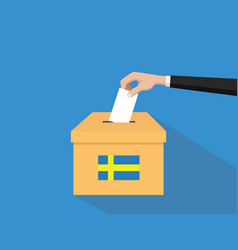 sweden vote election concept with vector image