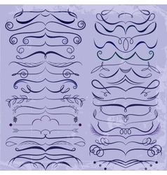 Vintage Set of calligraphic elements for design vector image