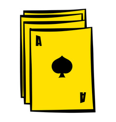 ace of spades playing card icon in icon cartoon vector image vector image