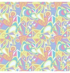 Abstract seamless pattern in pastel colors vector image vector image