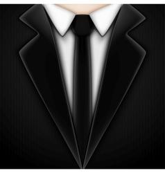 Black tuxedo with tie vector image