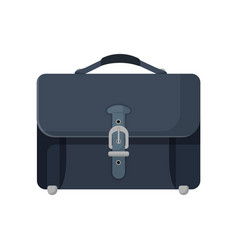 dark blue leather briefcase isolated vector image vector image