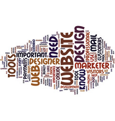 essential tools every website designer and vector image vector image