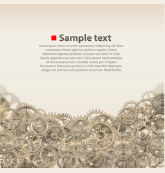 pinions on the background vector image