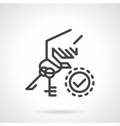 Rental of property icon Hand holds keys vector image