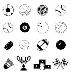 sport item design elements vector image vector image