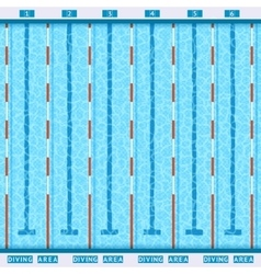 Swimming Pool Top View Flat Pictogram vector image vector image