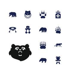 13 bear icons vector