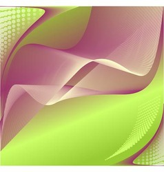 Abstract background in green lilac colors vector image vector image