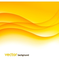 Abstract colorful background with orange wave vector