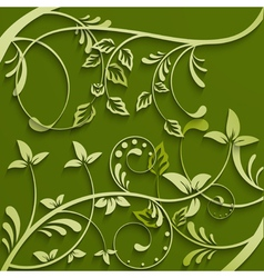 Abstract leaves green background vector image