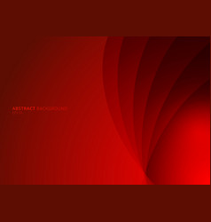 abstract red background curved layers with shadow vector image