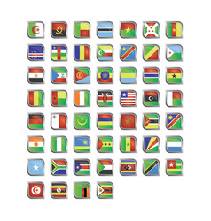 africa country flag vector image