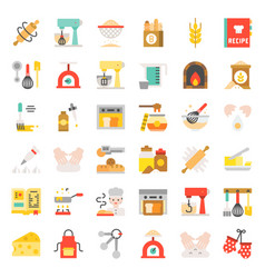 bakery and pastry shop related flat design icon vector image