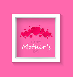beautiful frame on a pink backgroundmother s day vector image