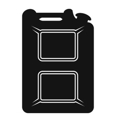 Black canister flat icon vector image