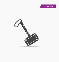 Black war hammer thor icon in simple design vector