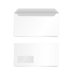 blank white envelope mockup isolated on white vector image