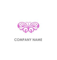 butterfly beauty logo vector image